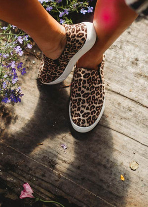 The Jane Leopard Slip On Shoes