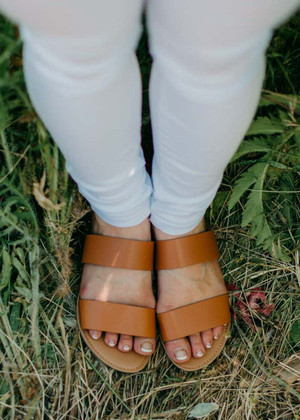 Camel Double Strap Sandal CLEARANCE