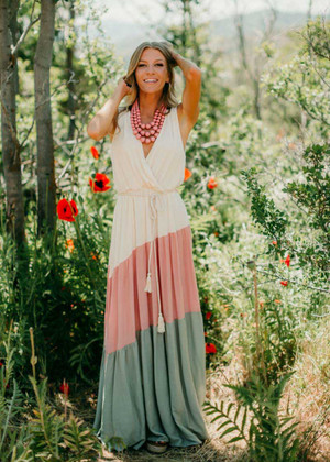 Enchanted Princess Color Block Tank Maxi