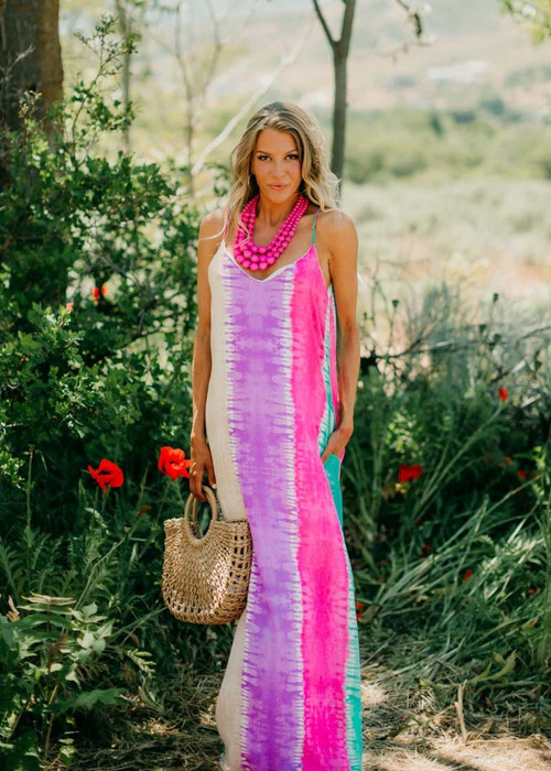 f687513e6a4d All The Bad Things Disappear Tie Dye Maxi Dress Mint/Pink | Modern ...