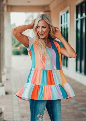 The Most Colorful Peplum Top Ever