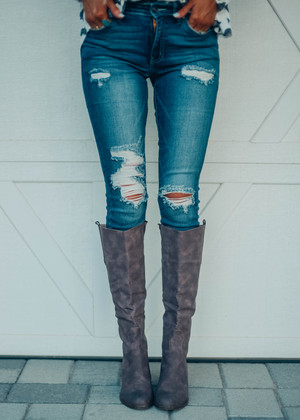 Above And Beyond Distressed Jeans