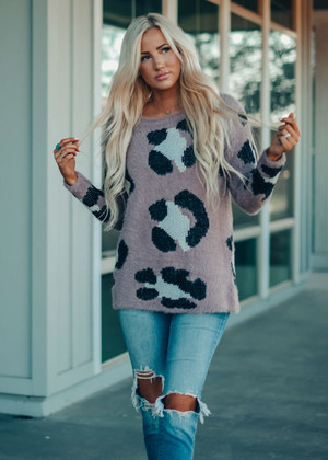So Soft And Comfy Leopard Sweater Mocha