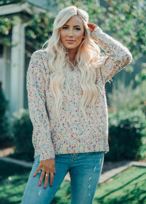 Beautiful Confetti Sweater Ivory