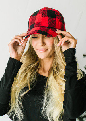 Buffalo Plaid Checkered Hat