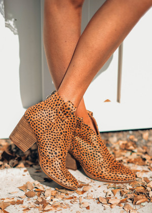 Make It On My Own Booties Cheetah