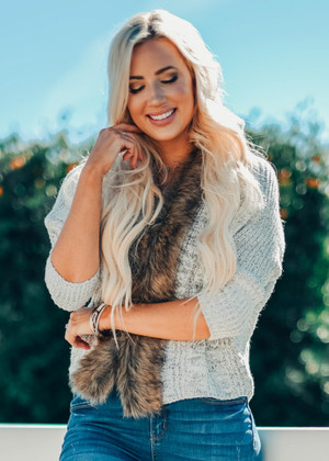 Drives Me Wild Fur Cardigan CLEARANCE
