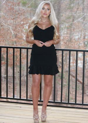 A Beautiful Life Smocked Ruffle Dress Black