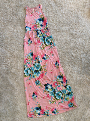 Crushing on You Floral Tank Maxi Pink
