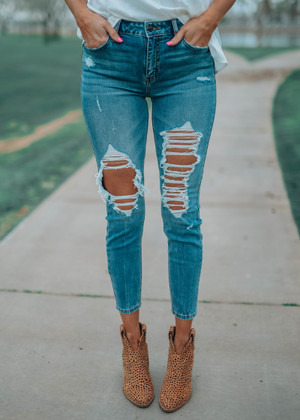 Easy To Love Distressed Skinny Jeans