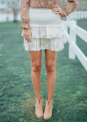 Everyday Sunshine Ruffle Skirt Cream