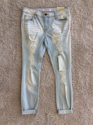 Stare At Me Light Wash Jeans
