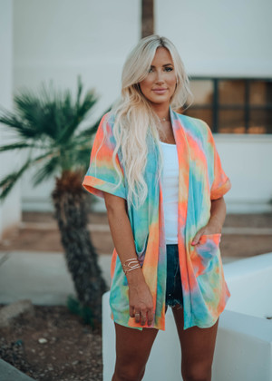 Brighten My Day Tie Dye Cardigan CLEARANCE
