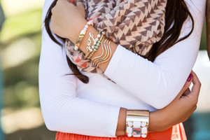 Dipped in Turquoise Love 4 Piece Bracelet Set