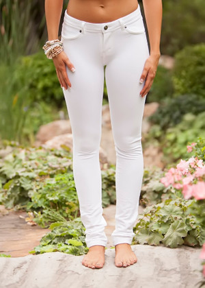 Perfect Fit Jeggings White CLEARANCE