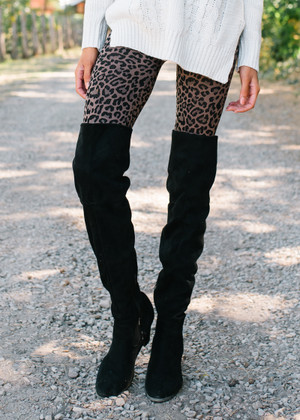 Amazing Seamless Leopard Print Leggings TAUPE