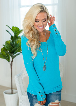 Declare My Love Top Turquoise
