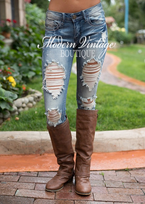 New Selena Gomez Distressed Jeans Clearance Modern