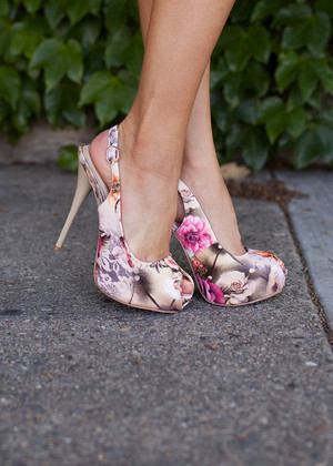 Sexy Floral Open Toe Heels CLEARANCE