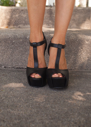 Sweet and Sassy Black Heels CLEARANCE