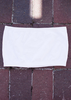 Plain White Seamless Bandeau