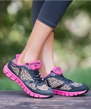 Hot Pink Leopard Work Out Shoes CLEARANCE