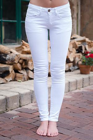 Plain White Skinny Jeans