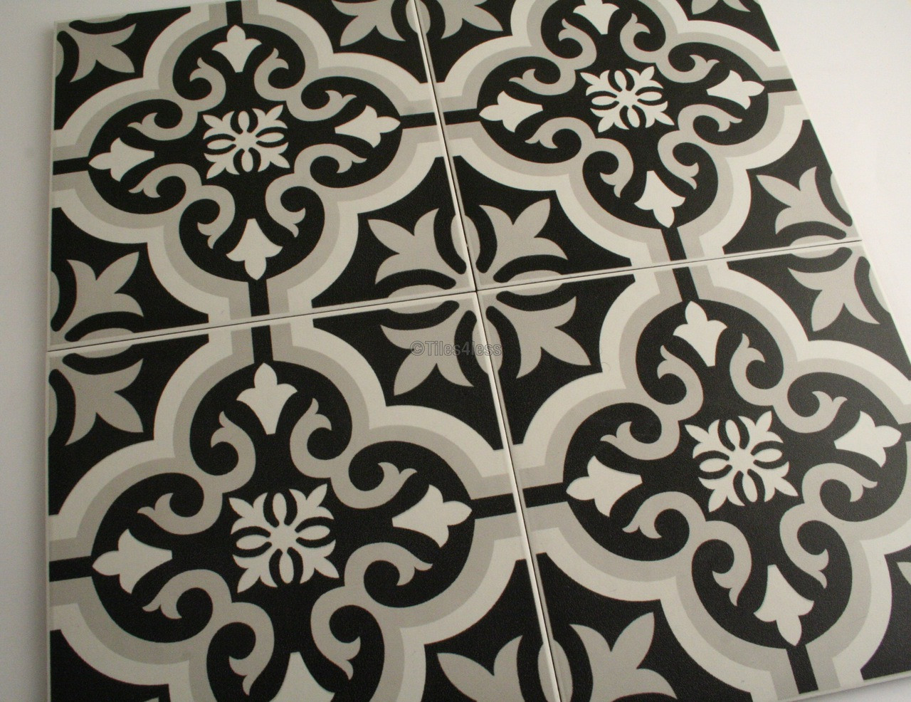 Tangiers Black And White Floor And Wall Tile Tiles4less