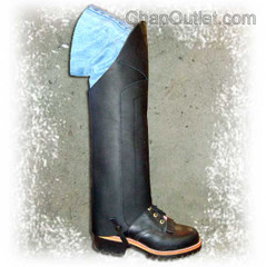 motorcycle half chaps, double front panel, soft