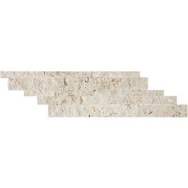 Ivory Travertine Split Face Cambria Strips