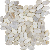 Figi Cream Flat Pebble Mosaics