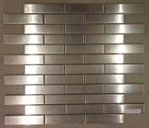 "Stainless Steel Collection • 1"" x 4"" Mosaics • Anatolia Tile & Stone"