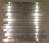 Stainless Steel Collection • Random Strip Mosaics • Anatolia Tile & Stone
