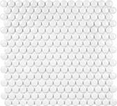 Glossy White Penny Round Mosaic