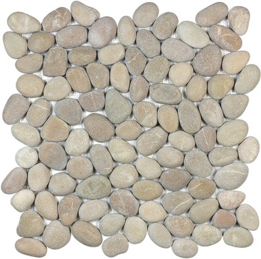 Driftwood Tan Pebbles Round