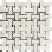 Berkshire Crema Marble Honed | Basketweave Mosaic Tile