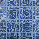 """BRUSHED BLUE / YELLOW • Deco Collection by Vidrepur • Recycled 1"""" x 1"""" Mosaic Glass Tiles"""