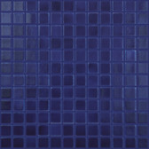 "MIDDLE BLUE • Deco Collection by Vidrepur • Recycled 1"" x 1"" Mosaic Glass Tiles"