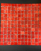 "INTENSE RED • Deco Collection by Vidrepur • Recycled 1"" x 1"" Mosaic Glass Tiles"