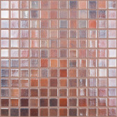 "BRONZE / BLUE IRIDESCENT • Deco Collection by Vidrepur • Recycled 1"" x 1"" Mosaic Glass Tiles"
