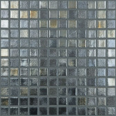 "METAL • Deco Collection by Vidrepur • Recycled 1"" x 1"" Mosaic Glass Tiles"