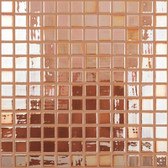 "AMBER IRIDESCENT • Deco Collection by Vidrepur • Recycled 1"" x 1"" Mosaic Glass Tiles *Discontinued*"