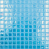 "BRUSHED BLUE • Titanium Collection by Vidrepur • Recycled Mosaic 1"" x 1"" Glass Tiles"