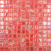"STRAWBERRY IRIDESCENT • Titanium Collection by Vidrepur • Recycled Mosaic 1"" x 1"" Glass Tiles"