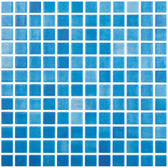 "FOG SKY BLUE • Colors Collection by Vidrepur • Recycled Mosaic 1"" x 1"" Glass Tiles"