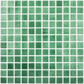 "FOG GREEN • Colors Collection by Vidrepur • Recycled Mosaic 1"" x 1"" Glass Tiles"