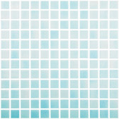 "FOG CLEAR SKY BLUE • Colors Collection by Vidrepur • Recycled Mosaic 1"" x 1"" Glass Tiles"
