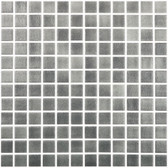"FOG DARK GREY • Colors Collection by Vidrepur • Recycled Mosaic 1"" x 1"" Glass Tiles"