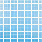 "CELESTIAL LIGHT BLUE • Colors Collection by Vidrepur • Recycled Mosaic 1"" x 1"" Glass Tiles"