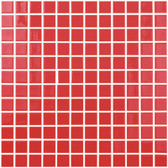 "RED • Colors Collection by Vidrepur • Recycled Mosaic 1"" x 1"" Glass Tiles"